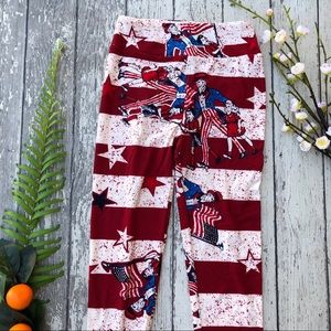 LuLaRoe Uncle Sam Fourth July Leggings
